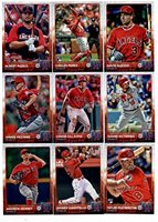 2015 Topps Update Series Los Angeles Angels Baseball Cards Team Set Of 22 Cards David Dejesus Carlos Perez Albert Pujols Joe Smith Shane