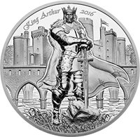GUINEVERE Camelot Knights Round Table 2 Oz Silver Coin 10$ Cook Islands 2016