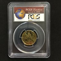 Sample Slab - PCGS Luncheon January 6, 2012 with France 20 cent