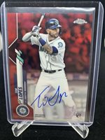 2020 Topps Chrome Tim Lopes Auto Red Refractor #2/5