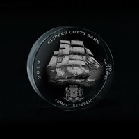 Somali Republic, 500 Shillings, Clipper Cutty Sark, 3D Crystal Coin 2019 Somalia