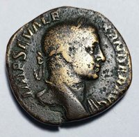 "Sestertius Severus Alexander Rome AD 225-235, Sol, ""Sun God"" Bronze"