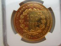 PROOF !! 100 Korona 1924 AUSTRIA NGC PF61 #A25