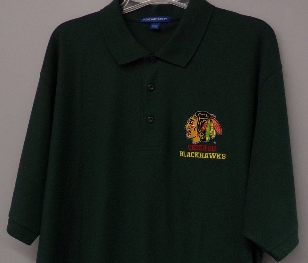 Nhl Chicago Blackhawks Hockey Mens Embroidered Polo Shi