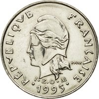 Coin, New Caledonia, 10 Francs, 1995, Paris, MS(63), Nickel, KM:11
