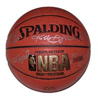 A Spalding NBA basketball signed by Kobe Bryant, Pau Gasol, Trevor Ariza, Shannon Brown, Andrew Bynum, Jordan Farmar, Derek Fisher, Dj Mbenga, Lamar Odom, Josh Powell, Sasha Vujacic and Luke Walton of the Los Angeles Lakers. Comes with a Certificate of Authenticity.