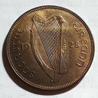 1928 Ireland Republic One Penny KM# 3