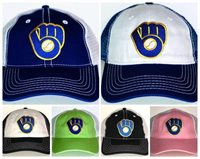 0b85e19210216 Milwaukee Brewers Retro Snapback Cap ⚾Hat ⚾CLASSIC MLB Patch Logo ⚾7 Colors  ⚾