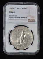 NGC MS62 1899 B British Trade Dollar