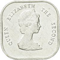 Coin, East Caribbean States, Elizabeth II, 2 Cents, 1996, EF(40-45), Aluminum
