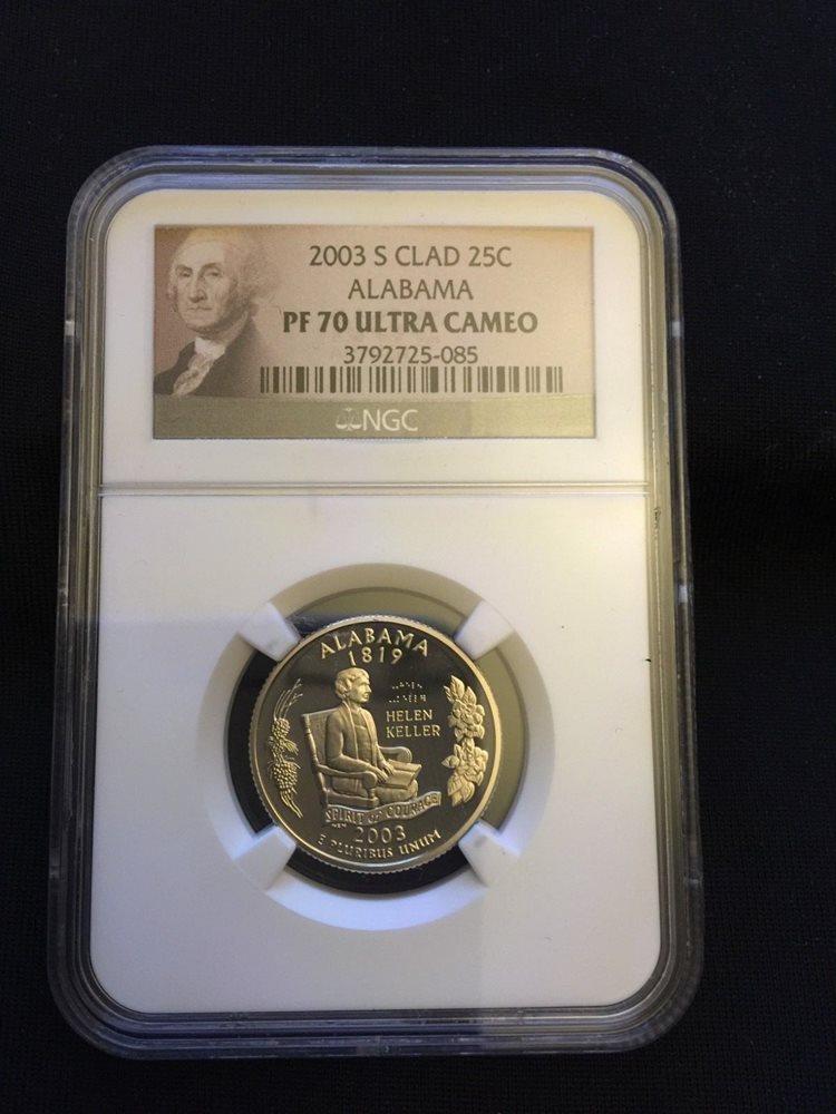 Flag 2003-S Clad State Quarter Set PR69DCAM PCGS Proof 69 Deep Cameo 5 Coins