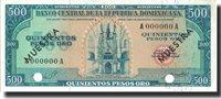 500 Pesos Oro undated (1964-74) Dominican Republic Banknote, Specimen