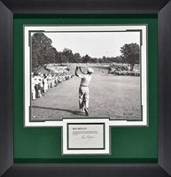 Ben Hogan Black and White image with signature card Framed Autograph by JSA