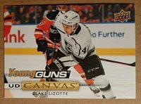 2019-20 UPPER DECK CANVAS YOUNG GUNS BLAKE LIZOTTE C102 RC Kings ROOKIE