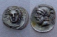 AC#YYO CILICIA Tarsos 380BC Obol Circa Silver Coin, 9 mm, 0.73 g Rare!