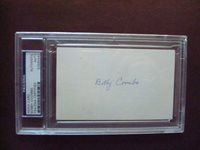 Bobby Coombs 1933 Athletics, 1943 NY Giants PSA/DNA certified autograph d. 1991