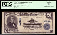 $20 1902 The Anaheim National Bank, California CH 10228 TOUGH ORANGE COUNTY BANK