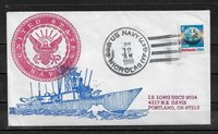 US 1988 Cachet Cover Naval Cancellation Seal Warships USS NICHOLAS,VF ! (RN-6)