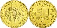 50 Francs 1975 Mali Coin, Nickel-brass, Km:e1