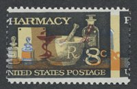 United StatesScott #1473 (2012 Scott Value $0.20), Unused, NH, VF. 8c Pharmacy (#1473) color & perf shift.Stamp #23937   Price: $35.00Add To Cart