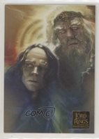 2006 Topps Lord of the Rings Masterpieces New Visions Wormtongue & Theoden 5f7