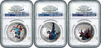 2015 CANADA SUPERMAN 3-COIN SILVER SET - NGC PF69 FIRST RELEASES - ONLY 8 EXIST