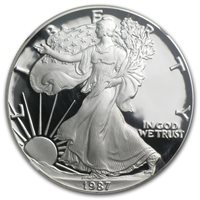 1987-S American Silver Eagle - Proof