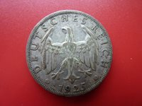 Scarce 1925G Germany Silver Zwei 2 Mark Only 929,000 Minted ref 111