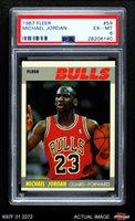 1987 Fleer #59 Michael Jordan PSA 6 - EX/MT