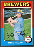 Mike Hegan #99 signed autograph auto 1975 Topps Baseball Trading Card