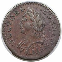 1787 Connecticut Copper 2nd Laughing Head TypeAU50 [PCGS Gold Shield]