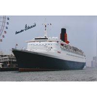 Cunard QE2 last Captain signed photograph