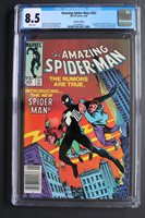 AMAZING SPIDER-MAN #252 1984, 1st Appearance of the Black Costume (Symbiote who becomes Venom); Came Out 2 Weeks Before Marvel Team-up #141 and 8 Months Before Marvel Super Heroes Secret Wars #8