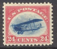 C 3 24c Biplane,Red/Blue F-VF Unused OG[c3og]