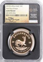 2018 South Africa 1//50 oz Gold Krugerrand Proof Coin GEM Proof SKU52839