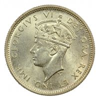 1938 CYPRUS SILVER 4 1/2 PIASTRES, NICELY TONED, UNC