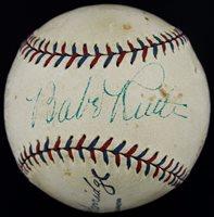 Fine Babe Ruth Single Signed Autographed OAL (Harridge) Baseball PSA/DNA & JSA