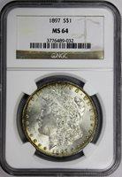 1897 Morgan Dollar NGC MS64