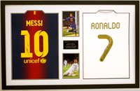 Messi and Ronaldo Signed Shirts
