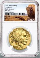 2021 $50 1 0z. Gold Buffalo NGC MS70 ER