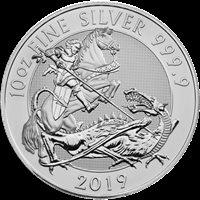 2019 10 OZ BRITISH SILVER VALIANT