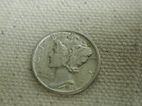 1938 U.S Mercury Dime Type Re-Engraved Extra Fine