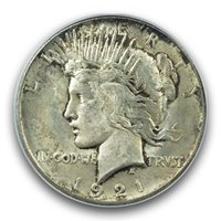 1921 $1 Peace Dollar - Type 1 High Relief PCGS MS64