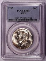 1965 Kennedy Half Dollar PCGS SP65 / MS65 SMS ODV-002 RDV-002 284