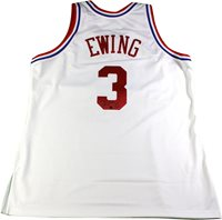 Patrick Ewing Signed Authentic White NBA All Star Jersey c12cc5c79