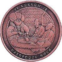 TURKEY 2017 BRONZE COMMEMORATIVE COIN UNC NASREDDIN HODJA TALE HEROES SERIE No.3