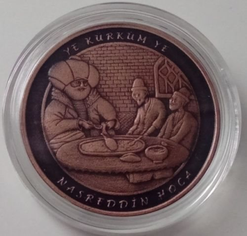 TURKEY 2016 BRONZE COMMEMORATIVE COIN UNC NASREDDIN HODJA TALE HEROES SERIE No.2