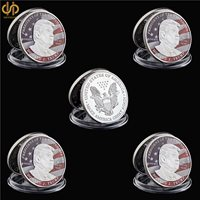 5PCS Collectible Token Coin Make America Great Again US President Trump
