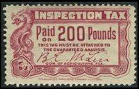 SRS FL FE6 1905 200 lbs. dark red mint, F-VF
