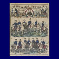 Equestrian Portraits Of Our Leading Generals – Print